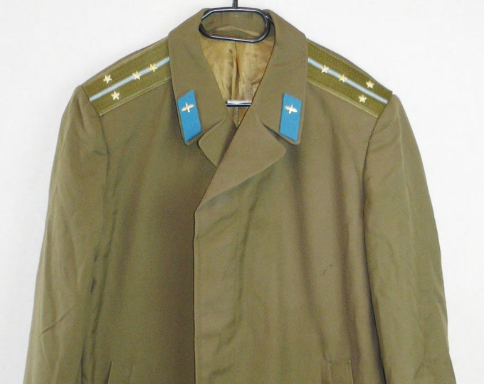 Captain Officer Military Coat Cloak Uniform Soviet Russian Red Army Air Force