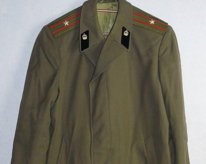 Major Officer Military Coat Cloak Uniform Soviet Russian Red Army