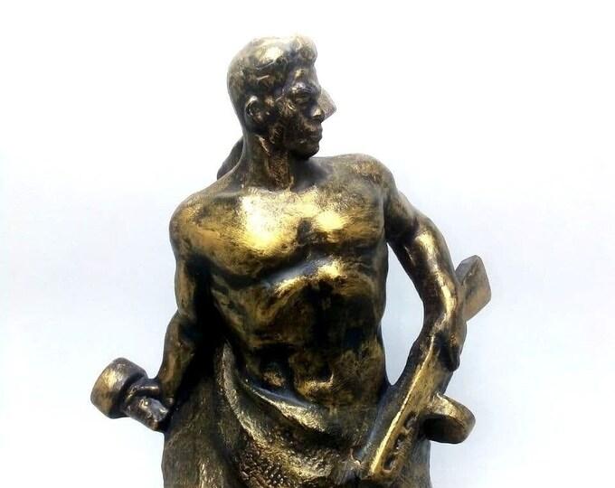 "Vintage Russian Soviet Figurine Statue ""Stand on Death"" Volgograd Sculpture USSR. Bronze Decorated"
