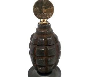 Original Russian Trench Art Ashtray Made From Original WW2 F1 Grenade