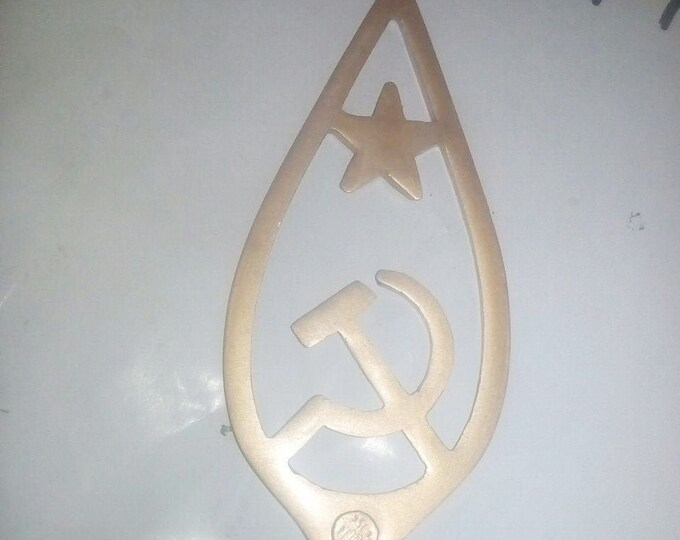 Old Vintage Russian Soviet Top Banner Flag Star Hammer and Sickle USSR Inactive