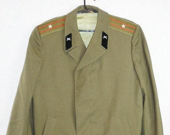 Major Officer Military Coat Cloak Soviet Russian Uniform Red Army
