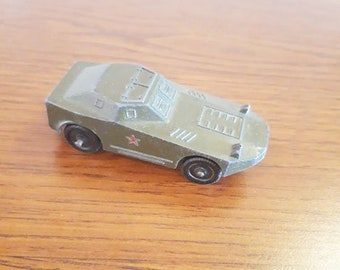Vintage Russian Soviet Metal Toy Military Car Vehicle USSR