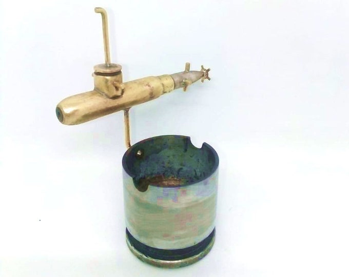 Trench Art Ashtray Made From Original WW2 Shell Cartridges Bullets Submarine