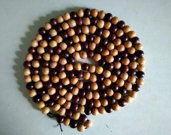 Retro Vintage Soviet Russian Wooden Beads.Vintage Jewelry.Vintage Beaded Necklace.USSR