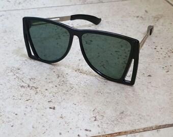 Vintage Soviet Russian Black Sunglasses. Retro Sunglasses. Style 70's.Vintage Lens USSR
