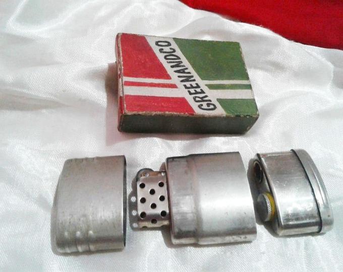 "RARE Original Vintage Canadian Military Steel/Brass Storm Lighter ""GREENANDCO"" 1945-1948"