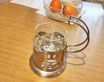 Vintage Soviet Collectible Tea Glass Holder. Russian Cup Holder . Retro Kitchen Drinkware. Kitchen Decor USSR.