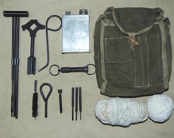 WW2 Original Cleaning Kit ZIP For MG Maxim M1910 Soviet Russian Tool Kit