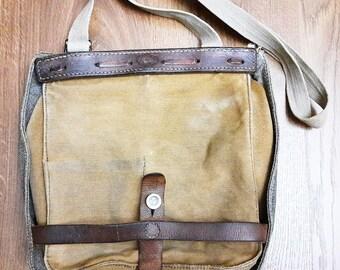 Vintage Canvas Swiss Dry Bag Handbag Shoulder Bag Case Swiss Army Officer 1941