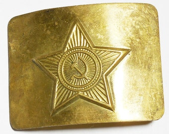 Original Soviet Russian Military Soldier Army Belt Buckle USSR Uniform Surplus