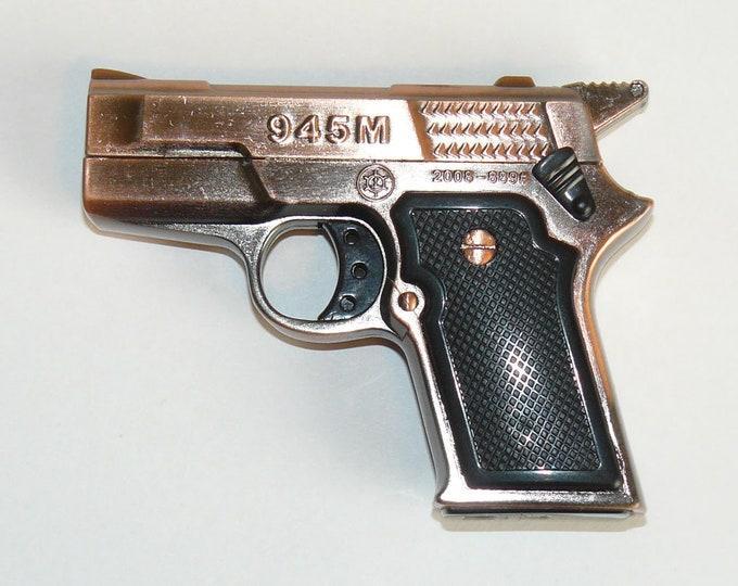 Souvenir Jet Flame Double Muzzle Mini Pistol Gun Metal Gas Lighter 945M