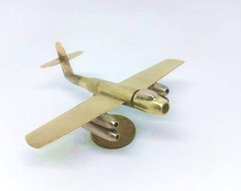 Trench Art Soviet Bomber RB-17 Model Made From WW2 Shells Cartridges Toy