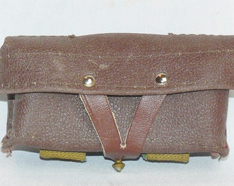 Original Soviet Russian Military Genuine Leather SKS 45 Carbine Ammo Pouch USSR