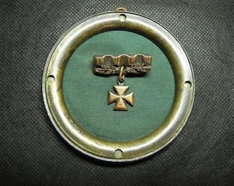 WW1 Trench Art German Imperial Badge Patriotic Iron Cross -Brooch 1916 WWI