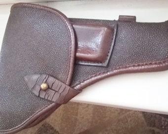 Leather Kirza Holster TT Tokarev Military Soviet Vintage Officer Gun Pistol USSR