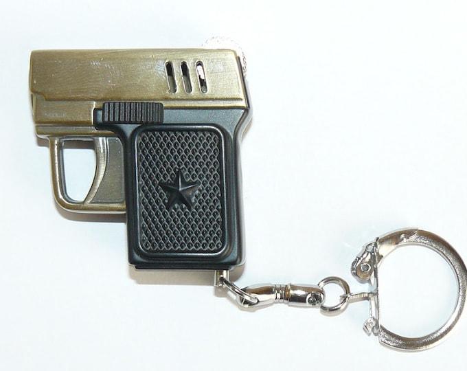 New Souvenir Mini Pistol Gun Metal Gas Charm  - Cigarette Lighter