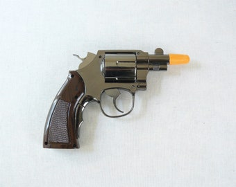 New Souvenir Jet Flame Pistol Gun Gas Lighter Revolver Smith & Wesson with Holster