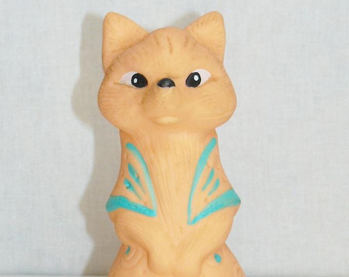 Vintage Original Soviet Russian Rubber Fox Toy Doll USSR