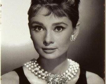 "New Loft Interior ""Audrey Hepburn"" ""Breakfast At Tiffany's"" Movie Cinema Style Decor Metal Wall Tin Plate Sign"