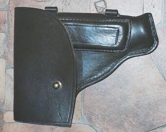 Vintage Soviet Military Officer Leather Makarov PM Gun Holster USSR.Pistol Holster. 1977