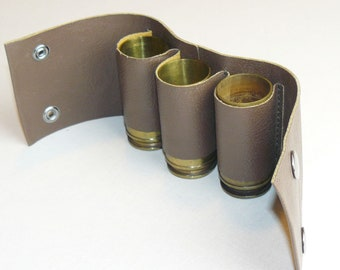 Trench Art Handcrafted Set 3 Brass Original WW2 Shells Case Drinking Cup Shot