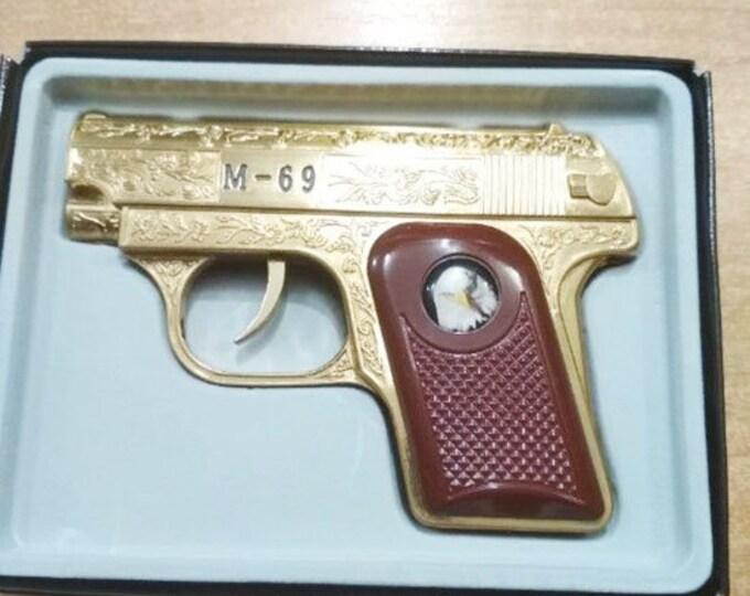 Vintage Souvenir Pistol Gun Lighter M-69 Eagle 1990's
