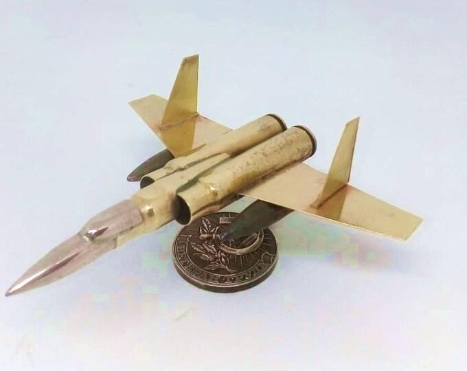 Trench Art Vought F7U-3P Cutlass US Navy Jet Fighter Shells Cartridges Toy