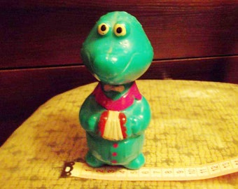 "Vintage Soviet Russian Plastic Toy Crocodile ""Gena"" - ""Cheburashka"" Tale Tunes Hero Retro Kids Toy USSR"