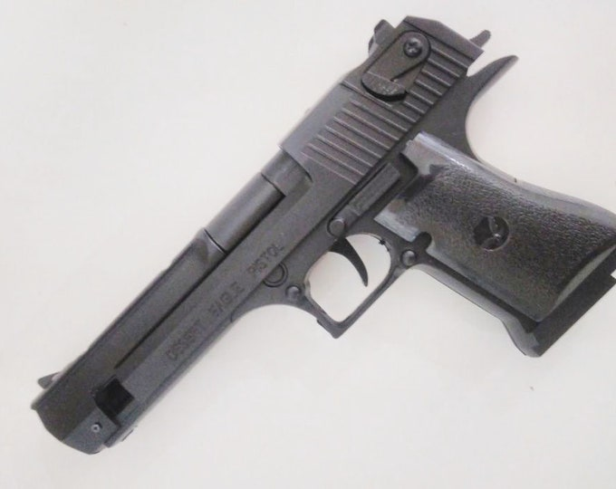 New Souvenir Jet Flame Pistol Gun Gas Lighter Desert Eagle With Holster And Stand