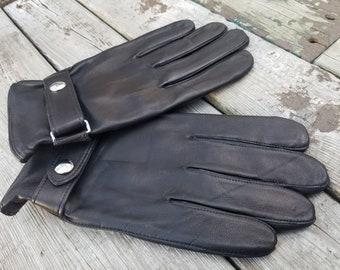 NEW Original Vintage Leather Winter Gloves Polo Ralph Lauren Size L