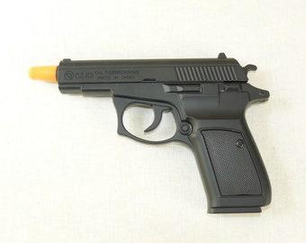 New Souvenir Jet Flame Pistol Gun Metal Gas Lighter CZ-83 With Holster And Stand
