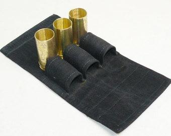 Trench Art Handmade Set 3 Brass Original WW2 Shells Case Drinking Cup Shot