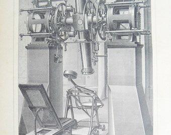 Antique Russian Page Meridian Circle Machine Pre 1917 Illustration Original Chromolithograph