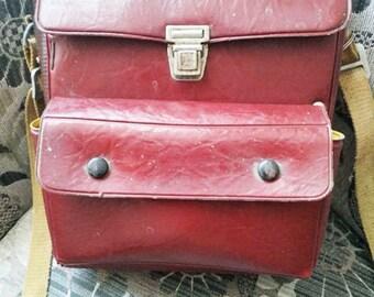 Rare Original Vintage Uniform Postman's Bag. Genuine Leather.  Postman's Shoulder Bag. Shoulder Leather Bag.