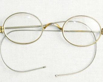 Original German WW2 Style Wire Rimmed Service Glasses.Goggles