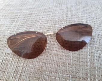 Vintage Metal Gilding Sunglasses. Retro Sunglasses. Style 70's.Vintage Lens USSR Era