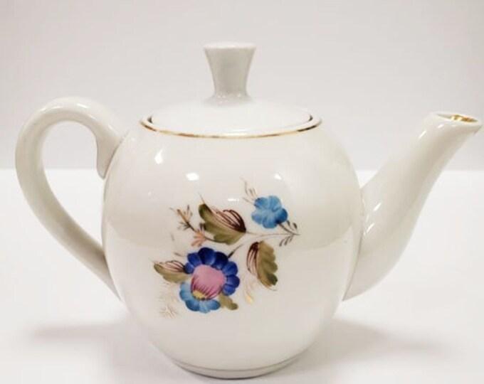"Vintage Teapot. Soviet Ceramic Porcelain Tea Pot ""Dovbysh"". Russian Retro Kettle. Vintage Tableware. Coffee Pot. 400 ML. USSR"
