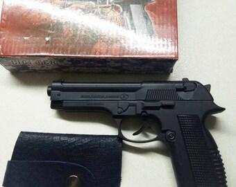 New Metal Souvenir Jet Flame Pistol Gun Lighter BERRETA With Holster