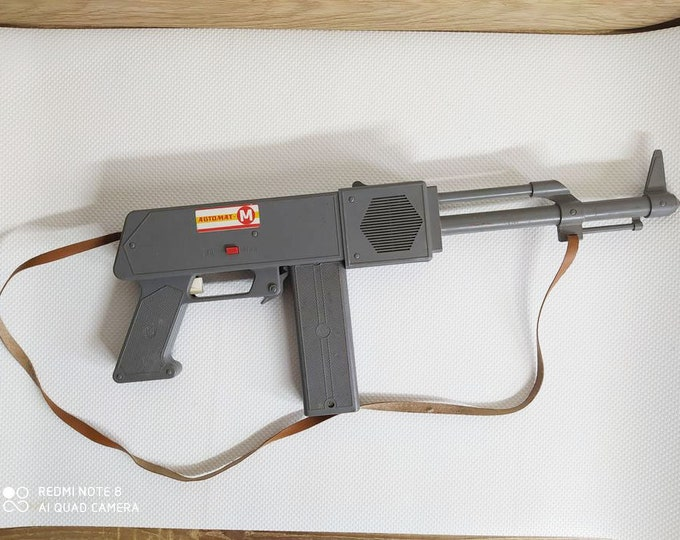 RARE Original Soviet Russian Vintage Plastic Toy Gun AK Russian Machine Gun USSR
