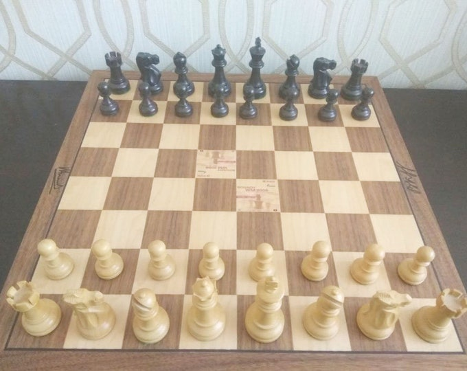 NEW ! Original Professional Chess Genuine  Autographed by Kramnik and Anand 2008 + Bag