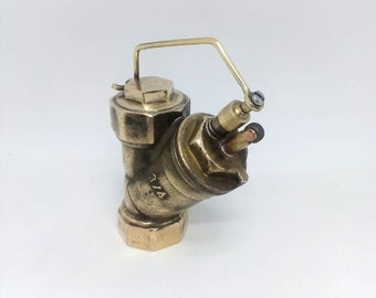 Vintage Style Petrol Lighter Handmade Steampunk. Handcrafted Trench Art Style Lighter.