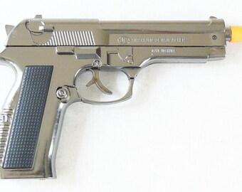 New Souvenir Pistol Gun Metal Gas Lighter Beretta 608 With Holster Gift