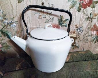 Original Soviet Russian Vintage Metal Kettle USSR 1970 Tea Pot