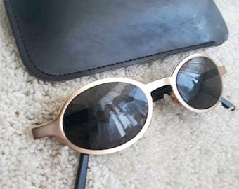 Vintage German Sunglasses. Retro Sunglasses. Style 80's.Vintage Lens With Case