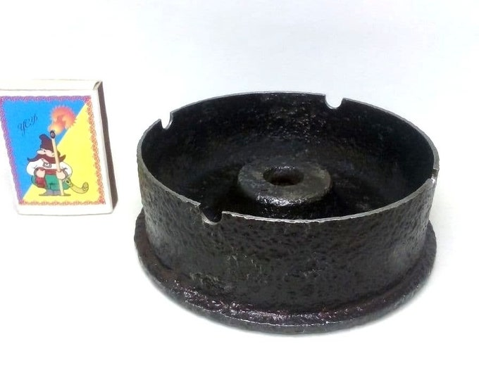 Trench Art Ashtray Made From Original WWII Gun Artillery Shell
