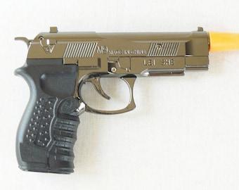 Souvenir Jet Flame Mini Pistol Gun Metal Gas Lighter Beretta M9