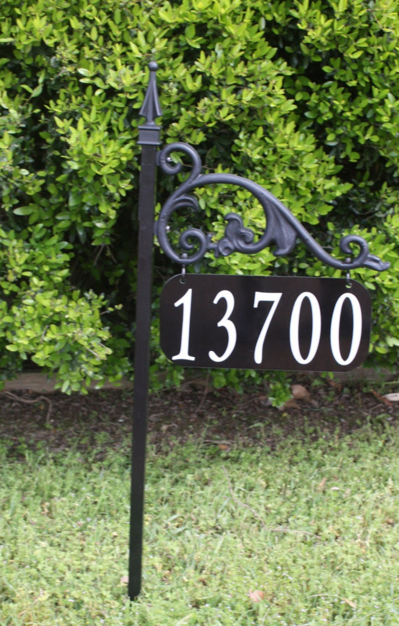 """Green reflective house signs /""""customized/"""""""
