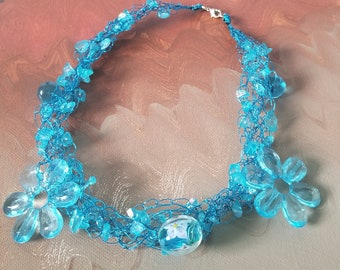 Sweet Fantasy Wire Crochet Necklace