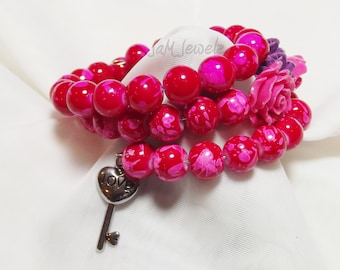 A Rose is Still a Rose Stacked Memory Wire Bracelet. ON SALE!